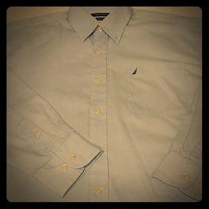 Men's long sleeve button down casual shirt